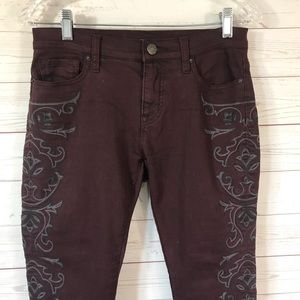 BDG embroidered twig ankle skinny jeans size 27